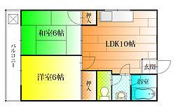 マンション和泉第三[1階]の間取り