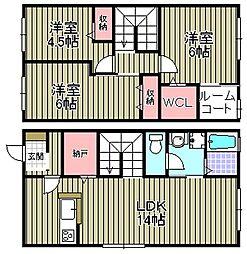 [タウンハウス] 大阪府和泉市池田下町 の賃貸【/】の間取り