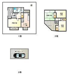 [一戸建] 兵庫県神戸市垂水区青山台1丁目 の賃貸【/】の間取り