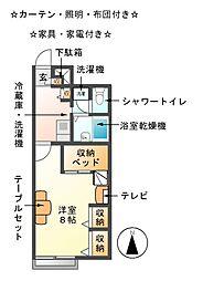 大門先[1階]の間取り