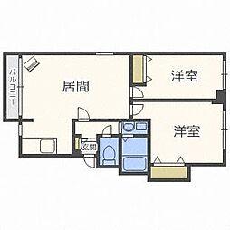 ピュアN38[4階]の間取り