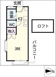 ベアフルート[2階]の間取り