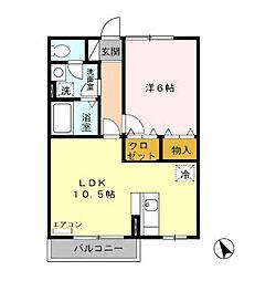 パヒューム[2階]の間取り