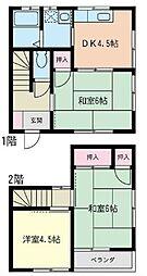 [テラスハウス] 神奈川県茅ヶ崎市赤羽根 の賃貸【神奈川県 / 茅ヶ崎市】の間取り