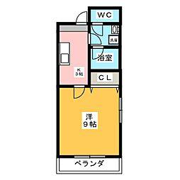 シャルムフォーレ[2階]の間取り
