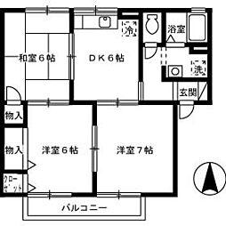 エスポワール・サンク[2階]の間取り