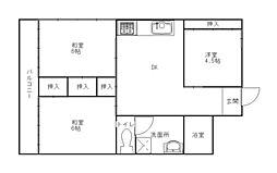 チュリス福岡[7階]の間取り
