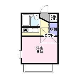 五井ファースト[104号室]の間取り