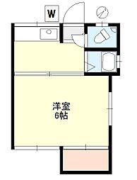 西山アパート[1階]の間取り