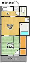 よろこび荘[2階]の間取り