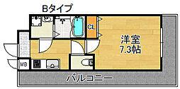TOYOTOMI STAY PREMIUM 天王寺公園III 2階1Kの間取り