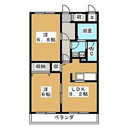 シンセアーマンション富士宮II[1階]の間取り