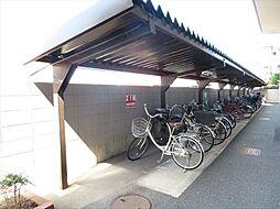 綺麗に整えられた駐輪場です。