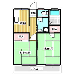 中村アパート[2階]の間取り