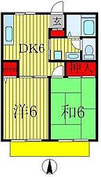セジュール平野[2階]の間取り