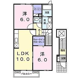 香川県観音寺市本大町の賃貸アパートの間取り