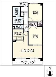 エクセル・ユー[3階]の間取り