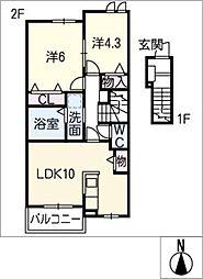 プロムナード[2階]の間取り