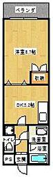 カスティール・イン・宇都宮[325(B)号室]の間取り