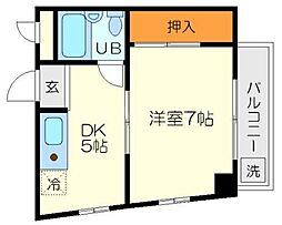 アイバレー新大阪[2階]の間取り