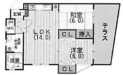 ガーデンテラス甲東園[101号室]の間取り