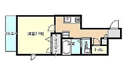 フルール加古川[203号室]の間取り