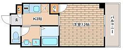 兵庫県神戸市中央区日暮通2丁目の賃貸マンションの間取り