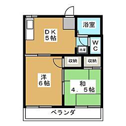 深草エステートI[2階]の間取り
