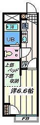 千葉県市川市東菅野2丁目の賃貸アパートの間取り