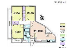 3LDK・専有面積66.27平米・バルコニー面積8.72平米