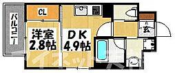 Moden palazzo 警固[8階]の間取り