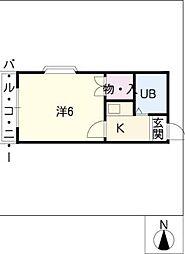 エスポワール左京山[2階]の間取り