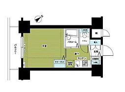 東京メトロ日比谷線 東銀座駅 徒歩3分の賃貸マンション 9階1Kの間取り