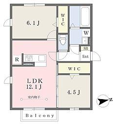 JR京浜東北・根岸線 洋光台駅 徒歩15分の賃貸アパート 2階2LDKの間取り