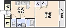 長束ビル (単身)[7階]の間取り