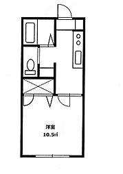 イーストコースト[2階]の間取り