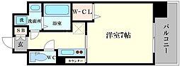 レオンヴァリエ大阪ベイシティII 11階1Kの間取り