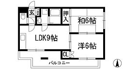 兵庫県伊丹市緑ケ丘1丁目の賃貸マンションの間取り