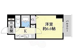 SERENA大阪天満宮 10階1Kの間取り