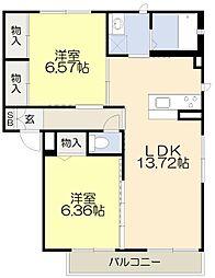大阪府吹田市出口町の賃貸アパートの間取り