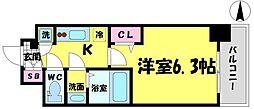 エスリード京橋グランツ[6階]の間取り