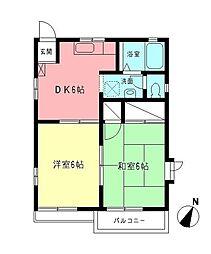 ロイヤルメゾン[2階]の間取り