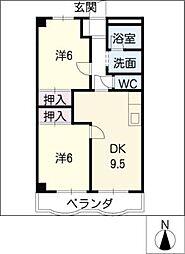ミューズ・クリオ1[1階]の間取り