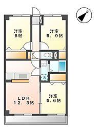 コートソレイユ[3階]の間取り