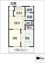 ドエルマルシェB棟[2階]の間取り