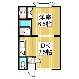 JK8[204号室]の間取り