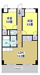 静岡県湖西市鷲津の賃貸マンションの間取り