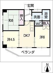 パーク八事[8階]の間取り