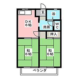 サンシティ三浦B[1階]の間取り
