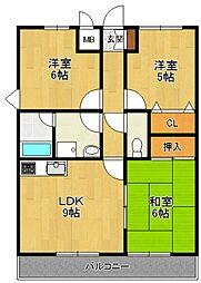 ソレイユ武庫川[3階]の間取り